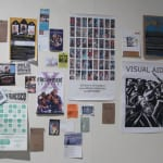 The Community Wall included several artists and artists' projects. Timothy Bruehl's, The First 5 Yesrs, 2005 - 2011, was one of the featured artists.