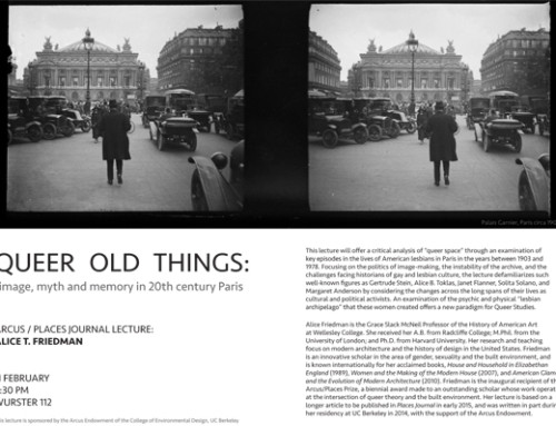 Alice Freidman Lecture – Queer Old Things