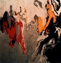 """Plate 2, Elements, 1962 72"""" x 72"""" Oil Stolen"""